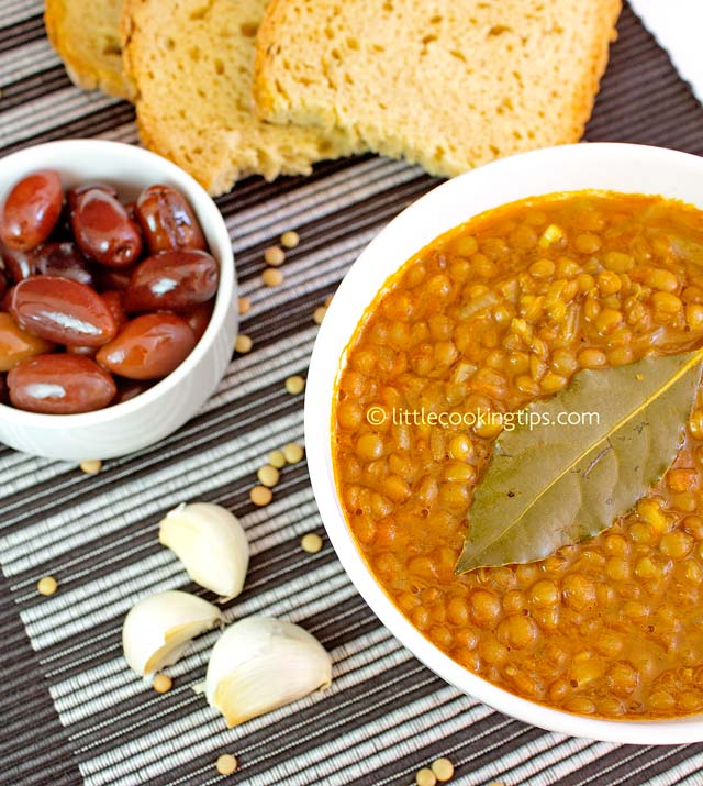 Little Cooking Tips Traditional Greek Lentil Soup - Fakes