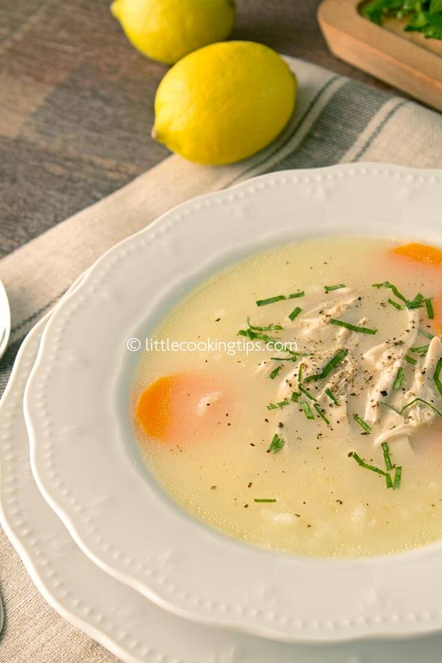 Little Cooking Tips Traditional Greek Chicken Soup Avgolemono