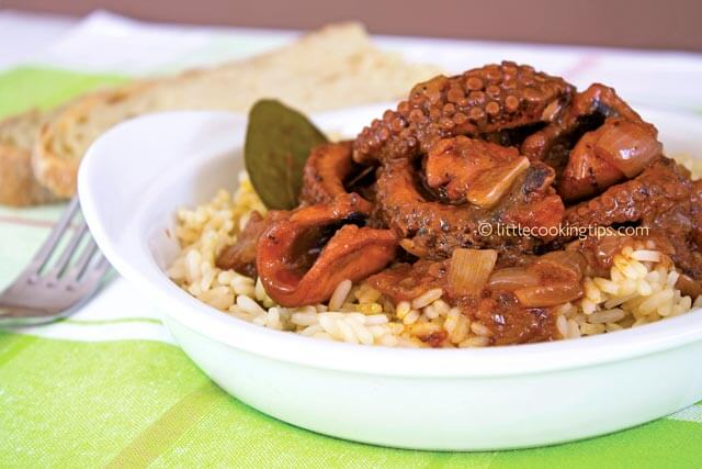 Littlecookingtips - Octopus with rice