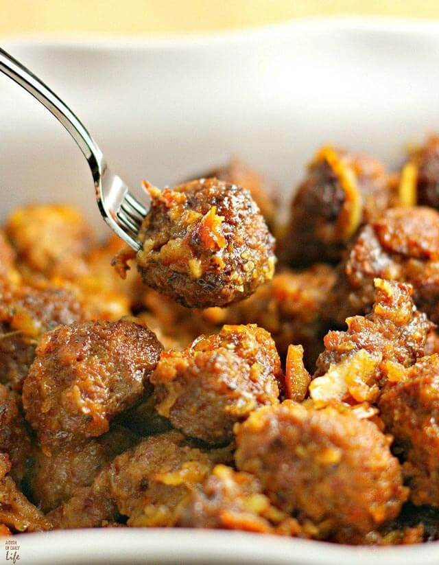PORK MEATBALLS WITH ORANGE SAUCE - Michelle Nahom
