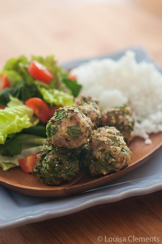 Turkey and Spinach Meatballs - Louisa Clements