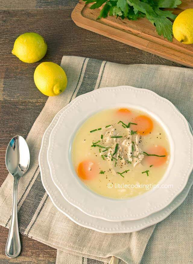Greek Traditional Chicken Soup Avgolemono
