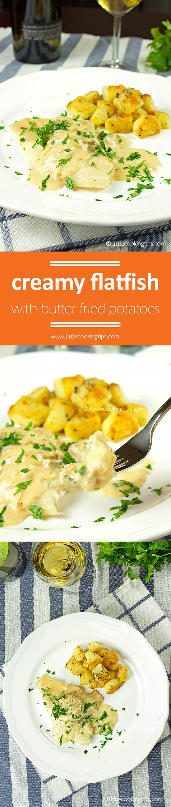 Creamy Flatfish With Butter Fried Potatoes