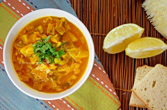 A Warm Spicy Detox Cabbage Soup