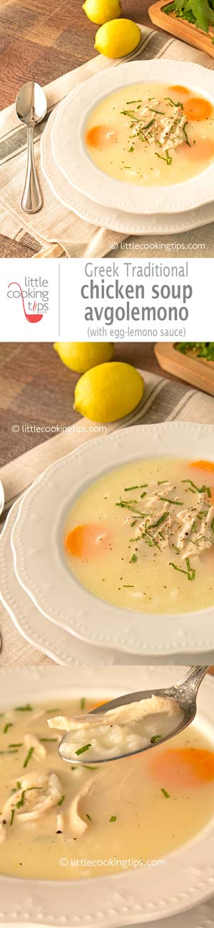 Little Cooking Tips - Chicken soup Avgolemono