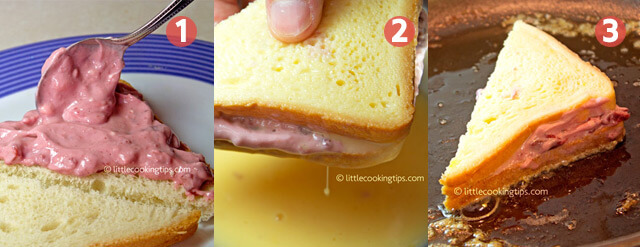 "Little Cooking Tips Cherry ""Cheesecake"" French Toast Sandwich"