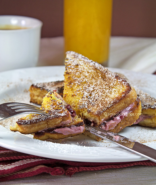 "Cherry ""Cheesecake"" French Toast Sandwich"