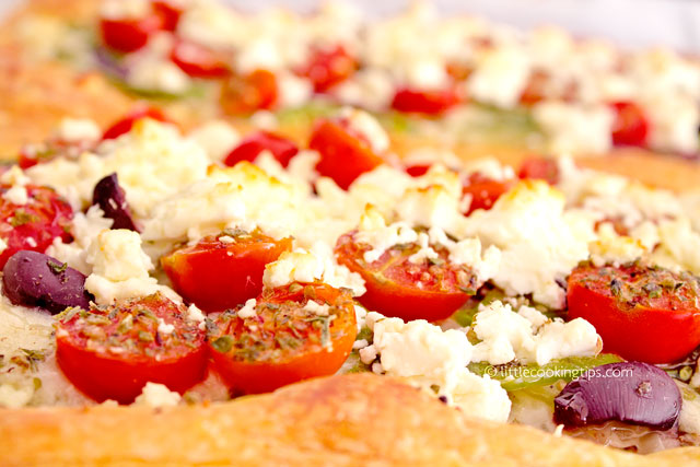 Little Cooking Tips Greek Salad Puff Pastry Pizza