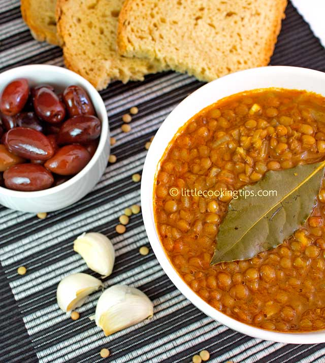 Traditional Greek Lentil Soup: Fakes