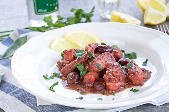 Octopus with Ouzo, Fennel and Olives
