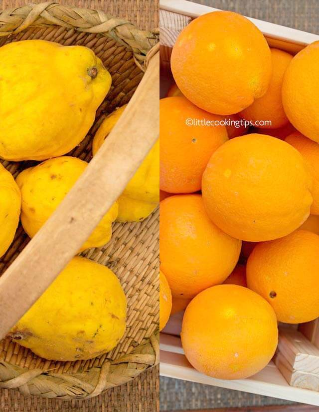 Quinces and oranges: fall and winter vegetables and fruits