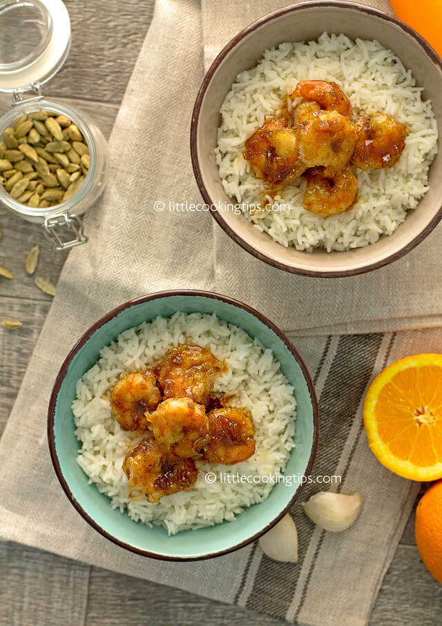 Little Cooking Tips - Cardamon Orange Glaze Shrimp 1