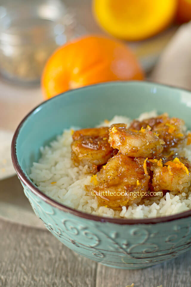Little Cooking Tips - Cardamon Orange Glaze Shrimp 4