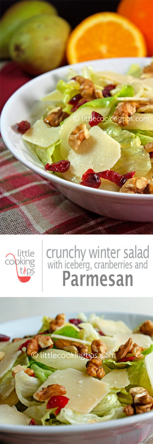 salad with iceberg, cranberries and parmesan