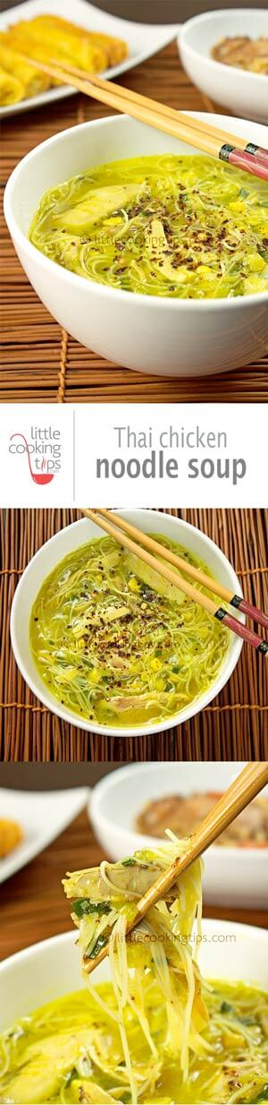 Easy Thai Chicken Noodle Soup