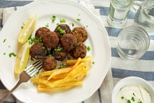 Greek Traditional Meatballs (Keftedakia)