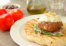 Greek Burgers with Feta and Olives