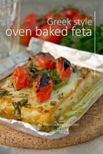 Mouthwatering, Greek style oven baked feta (Guest Post)