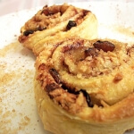 Cinnamon-scented apple Danish