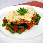 Veal escalopes with delicious rosemary cream