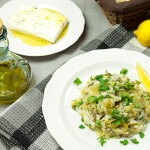 Greek rice with Leeks (Prasorizo)
